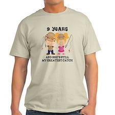 9th Anniversary Mens Fishing T-Shirt