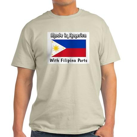 Filipino Parts Ash Grey T-Shirt