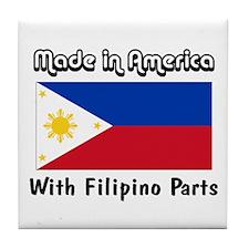 Filipino Parts Tile Coaster