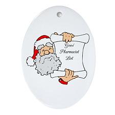 Good Pharmacist List Oval Ornament