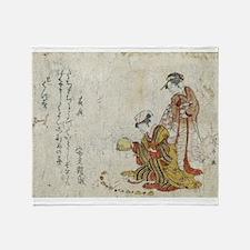 Yoshiwara Sparrow - anon - 1797 - woodcut Throw Bl