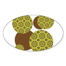 Brown and Green Patterned Circles Decal