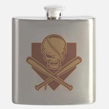 Skull and Crossbats 513 Flask