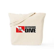 Extreme Diver (Skull) Tote Bag