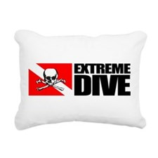 Extreme Diver (Skull) Rectangular Canvas Pillow