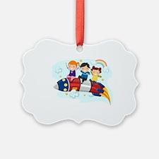 Illustration of Little Kids rid - Ornament