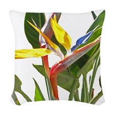 Bird of Paradise Woven Throw Pillow