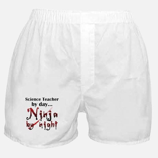Science Teacher Ninja Boxer Shorts