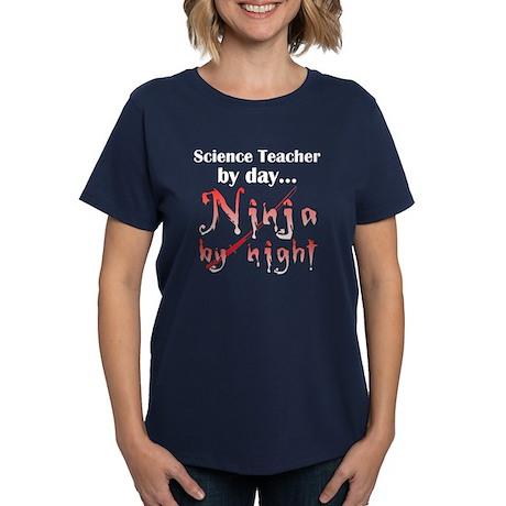 Science Teacher Ninja Women's Dark T-Shirt