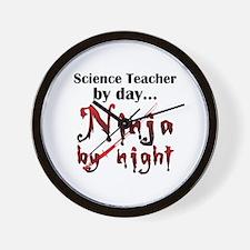 Science Teacher Ninja Wall Clock