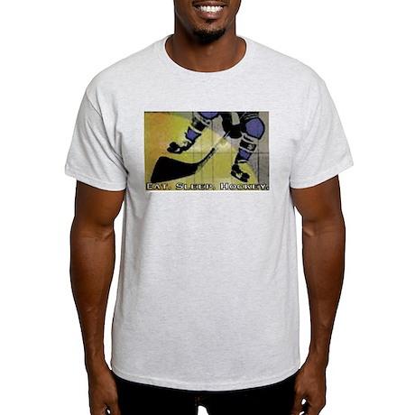 Eat.Sleep.Hockey. Ash Grey T-Shirt