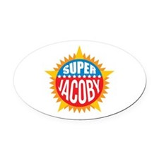 Super Jacoby Oval Car Magnet