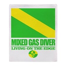 Mixed Gas Diver Throw Blanket