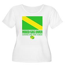 Mixed Gas Diver Plus Size T-Shirt