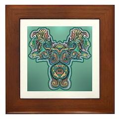 Feathered Serpent Framed Tile