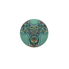 Feathered Serpent Mini Button