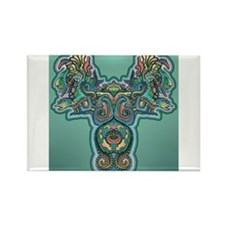 Feathered Serpent Rectangle Magnet