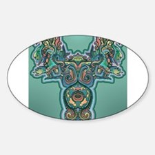 Feathered Serpent Oval Decal