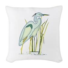 Heron Woven Throw Pillow