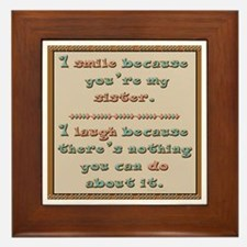 Sister Smile Framed Tile
