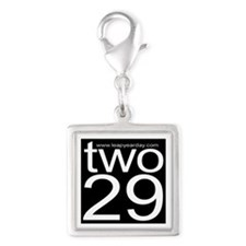 two29 Silver Square Charm