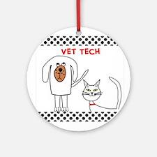 Vet Tech pillow Ornament (Round)