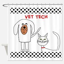 Vet Tech pillow Shower Curtain