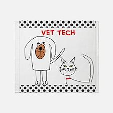 Vet Tech pillow Throw Blanket