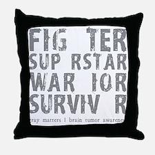 Hero Survivor Throw Pillow