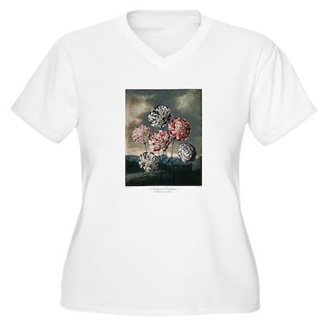 A Group og Carnations Plus Size T-Shirt