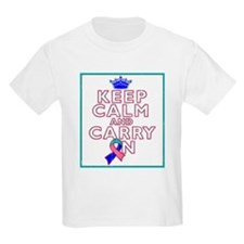 Thyroid Cancer Keep Calm Carry On T-Shirt