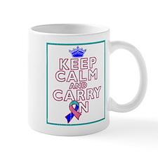 Thyroid Cancer Keep Calm Carry On Mug