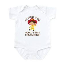 Firefighter Daddy (Worlds Best) Infant Bodysuit