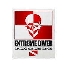 Extreme Diver (Skull) Throw Blanket