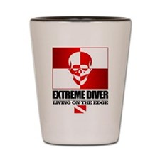 Extreme Diver (Skull) Shot Glass