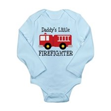 Daddy's Little Firefighter Long Sleeve Infant Body