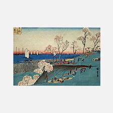 Blossoms At Gotenyama - Hiroshige Ando - 1835 - wo