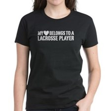 My Heart Belongs To A Lacrosse Player Tee