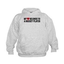 My Heart Belongs To A Hockey Player Hoodie