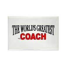 """The World's Greatest Coach"" Rectangle Magnet"