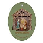 Christmas Blessings, Little Creche Oval Ornament