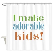 I Make Adorable Kids Shower Curtain