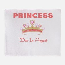 PRINCESS DUE IN AUGUST Throw Blanket