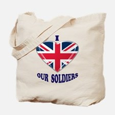 I Heart Our UK Soldiers Tote Bag