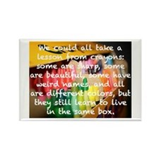 &Quot;Crayons..Learn To Rectangle Magnet