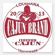 "Cajun Brand Square Car Magnet 3"" x 3"""