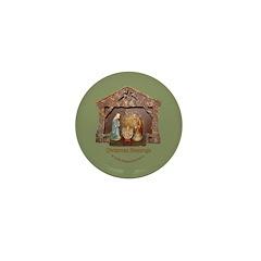 Christmas Blessings, Little Creche Mini Button (10