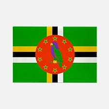 Dominica Flag Rectangle Magnet