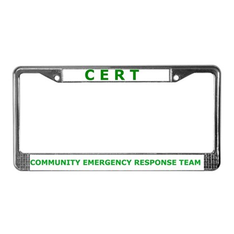 CERT License Plate Frame