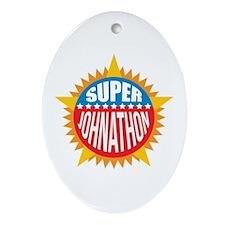 Super Johnathon Ornament (Oval)